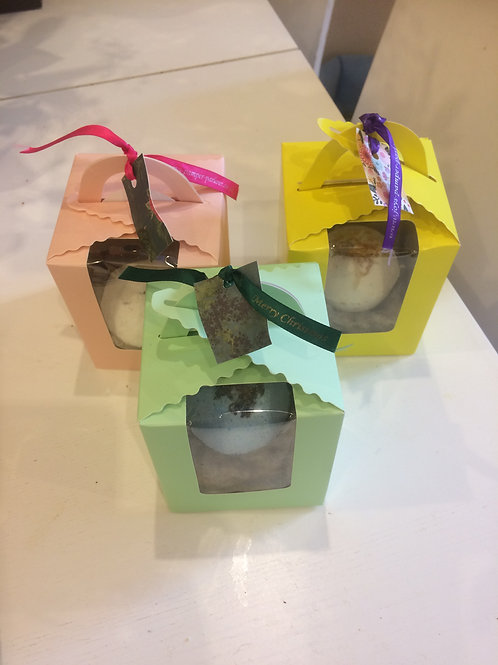 Gift Boxed Bath Bombs, Lavender, Rose, Ylang Ylang & Orange