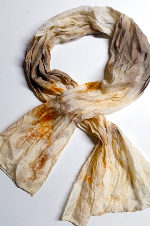 COMING SOON Silk Scarf in orange & alkanet purple  - Standard Size