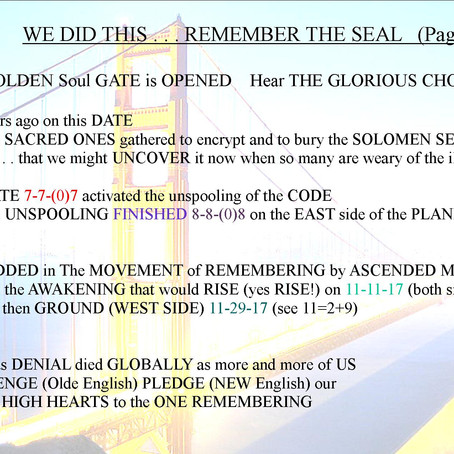 WE DID THIS . . . REMEMBER THE SEAL