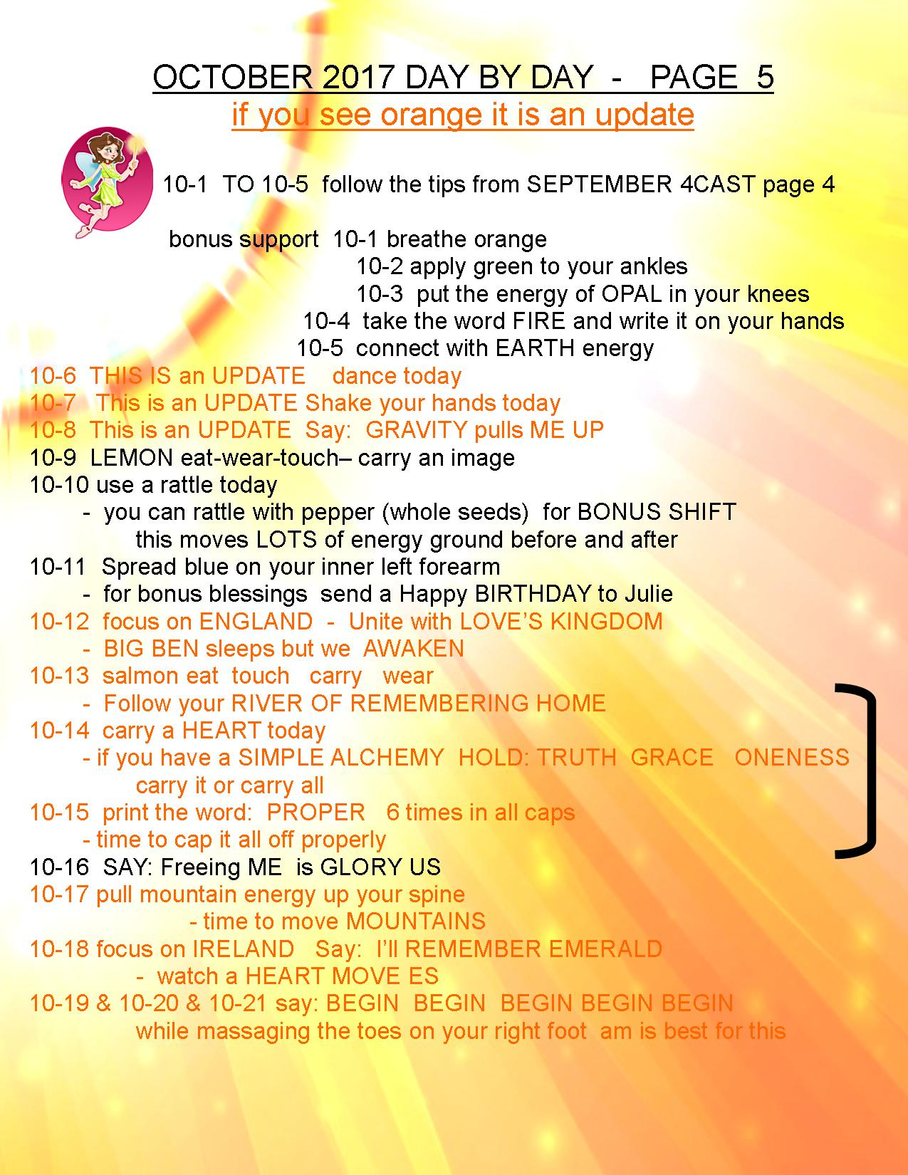 OCTOBER 2017 4CAST PAGE 5 PEG