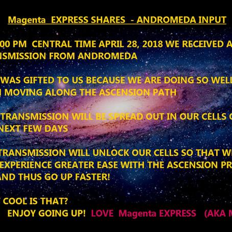 Magenta EXPRESS SHARES - ANDROMEDA INPUT