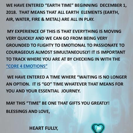 EMERALD Speaks ~ EARTH TIME