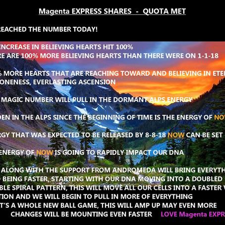 Magenta EXPRESS SHARES - QUOTA MET
