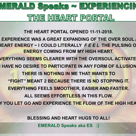 EMERALD Speaks SHARES ~ THE HEART PORTAL EXPERIENCE