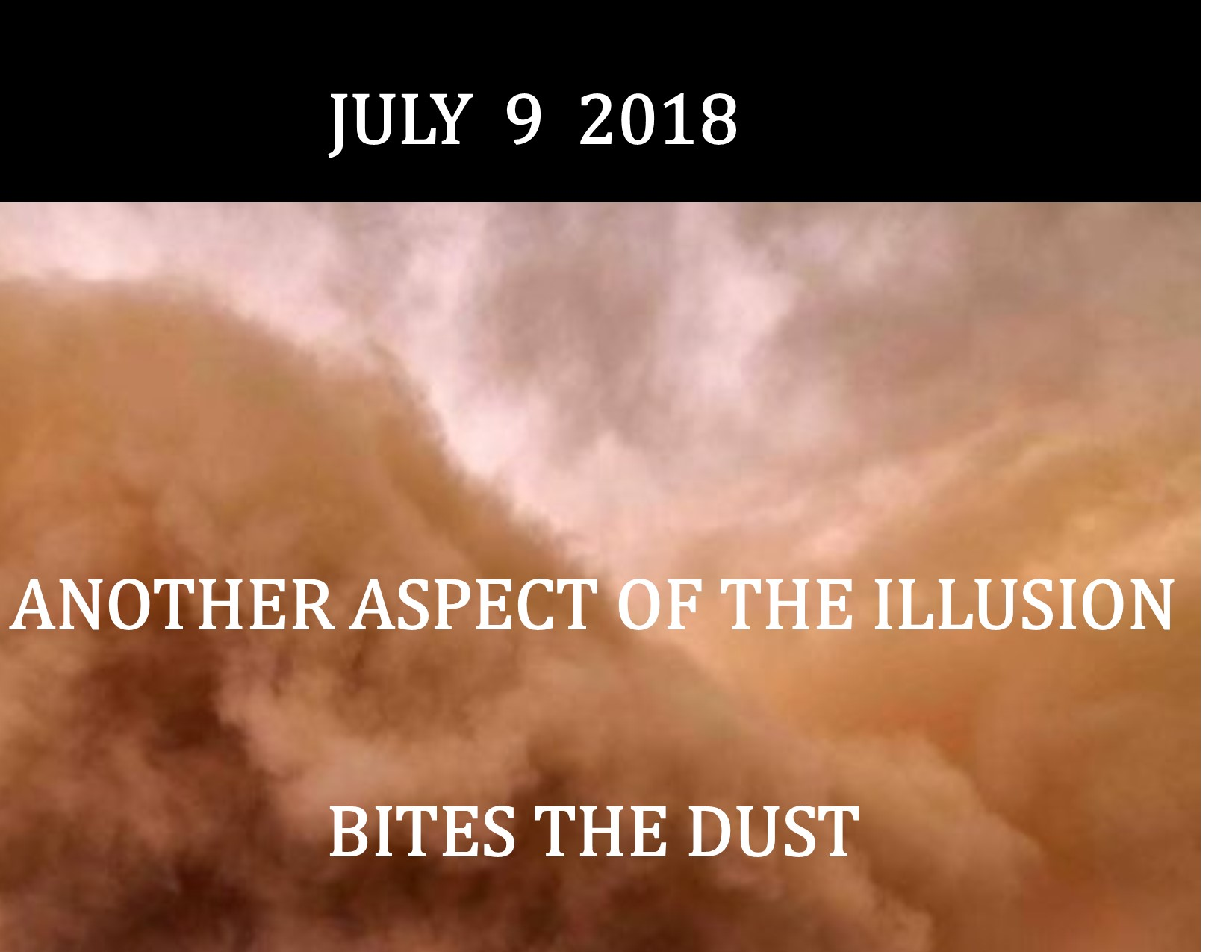JULY 2018 UPDATE 7-9-18 PEG