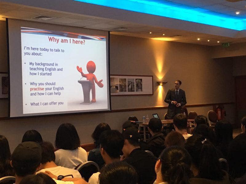 English presentation in Leicester University 2017