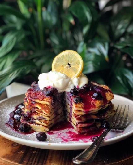 Lemon Ricotta Blueberry Pancakes .jpeg