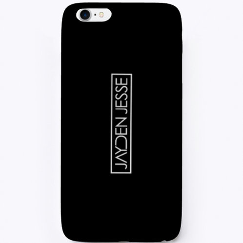 Jayden Jesse (White Logo) iPhone Case (Black)