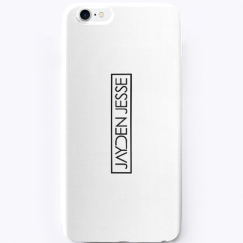 Jayden Jesse (Black Logo) iPhone Case (White)