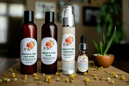 Be Clear Honey Skin Soothing & Blemish Fighter Kit