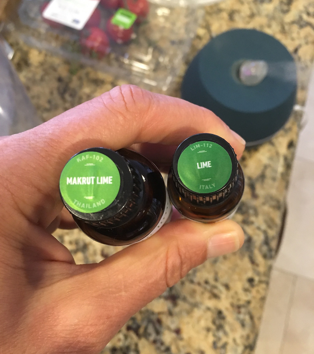 Makrut lime (Citrus hystrix) and lime (Citrus aurantifolia) essential oils