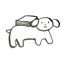 Dog carrying book.png