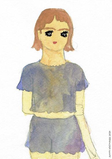 Girlfriend A5 Print