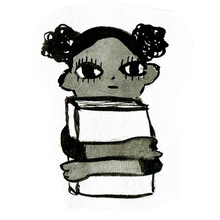 Girl clutching book.png