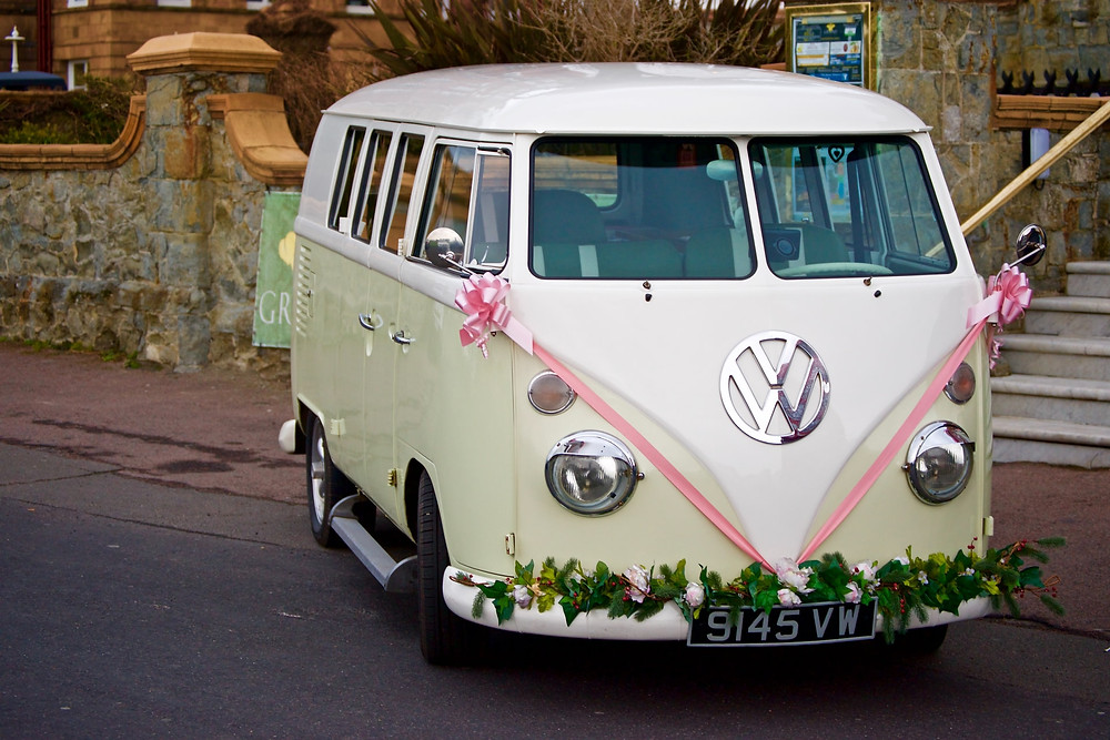 boho wedding theme VW campervan