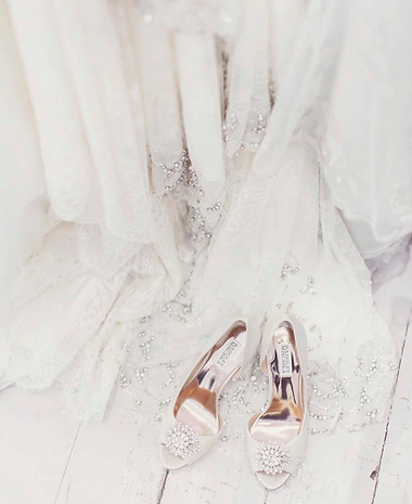 bridal accessories in scotland with badgley mishka shoes