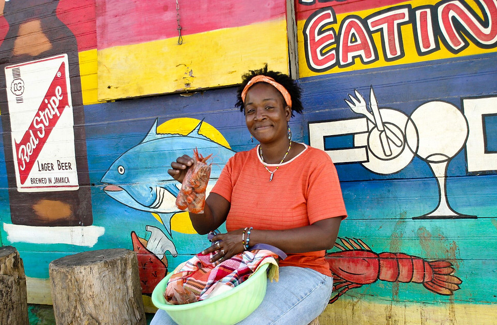 local woman in jamaica travel photography
