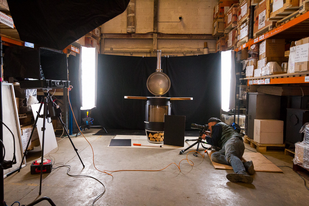 Chesneys fireplaces behind the scenes photoshoot 2020