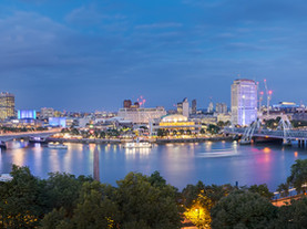 London cityscape panorama at night