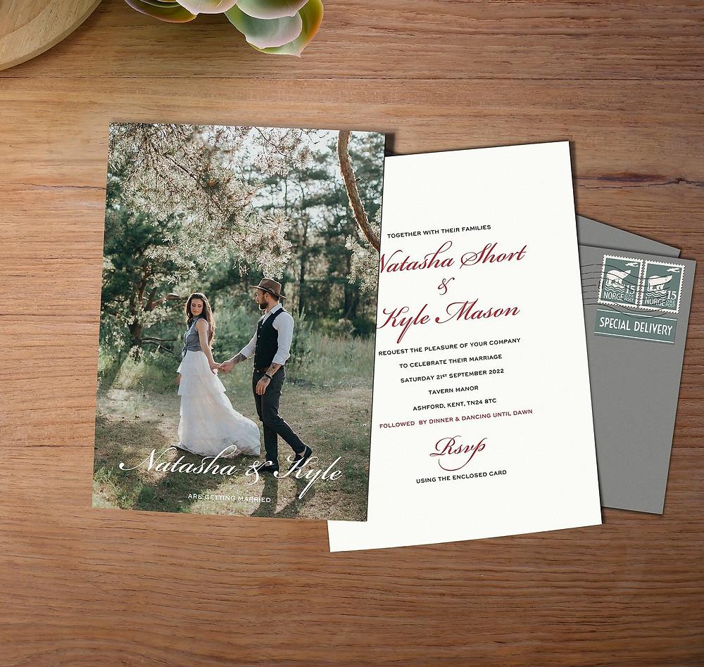 boho wedding invites uk