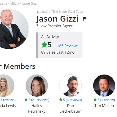Don't take our word for it...see what our clients say about us on Zillow!