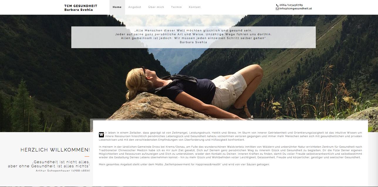 Website TCM Gesundheit Barbara Svehl
