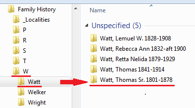 Create Surname and Individual Folders