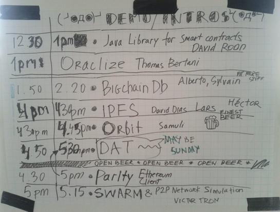 DApphack Agenda day 1