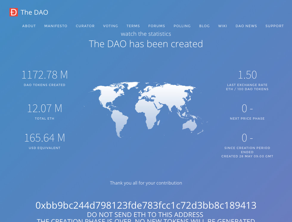 theDAO token sale