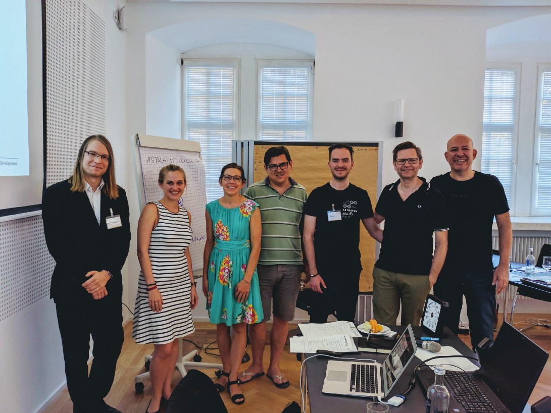Some of our experts at ASTRATUM's Blockchain Summer School