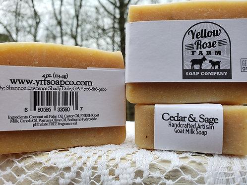 Cedar & Sage Bar Soap