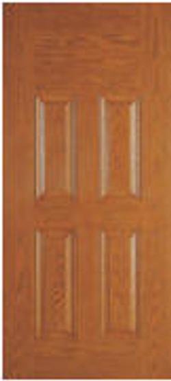four panel blank top door