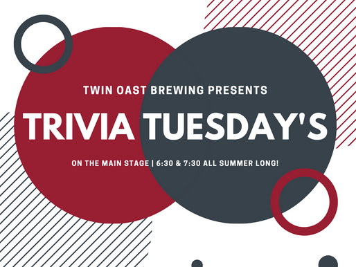 TRIVIA TUESDAYS: Trivia at Twin Oast has Moved Days & Location