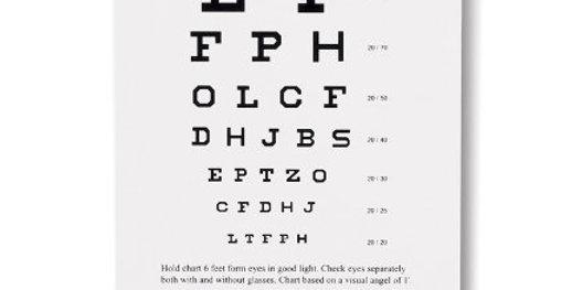Pocket Snellen Eye Chart