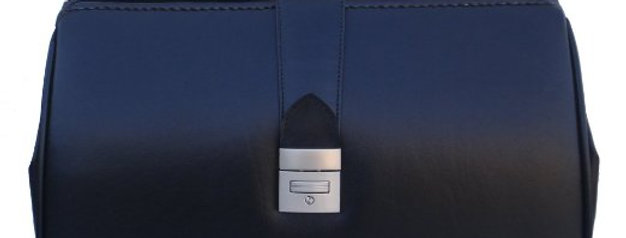 R.A. Bock Fine Leather Black Doctor Bag - Medium