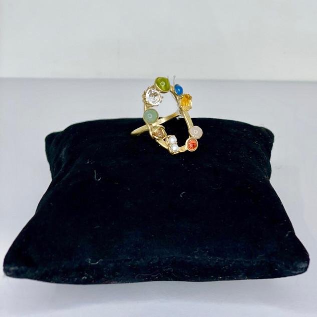 Bague en pierres fines multicolores