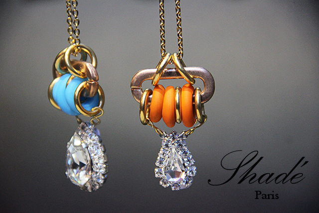 Collier Sautoir *Gnocchi orange*