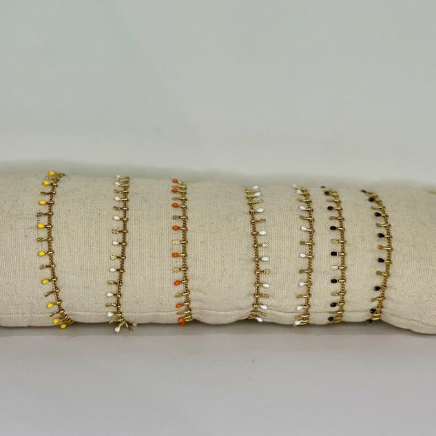 Bracelet plaqué or et pampilles de coule