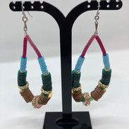 Boucles d'oreilles en sequins colorées e