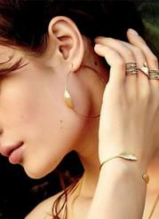 Boucles d'oreille plume