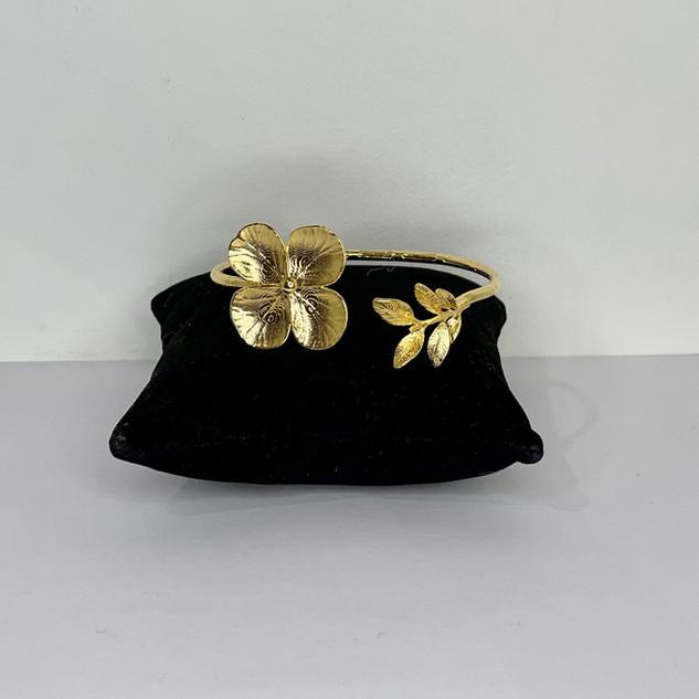 Bracelet inspiration végétale plaqué or
