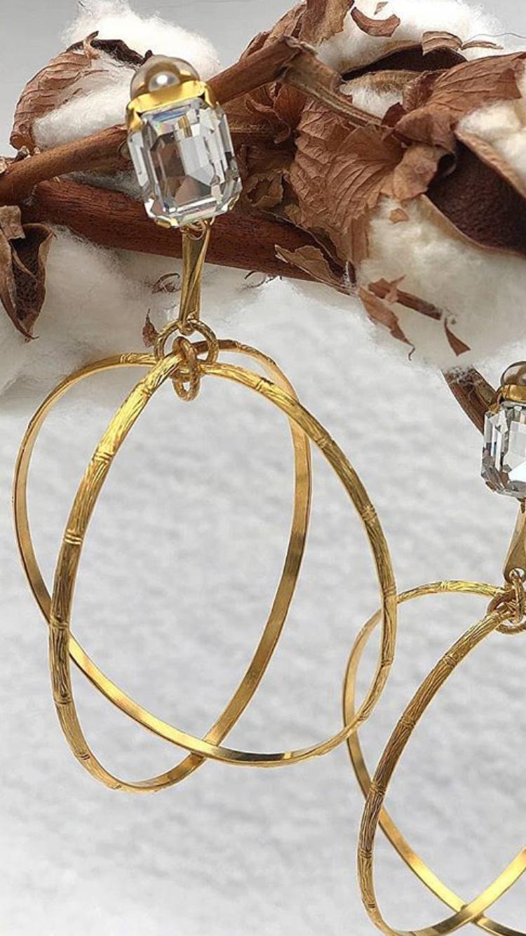 Aris Geldis - Boucles d'oreilles dorées
