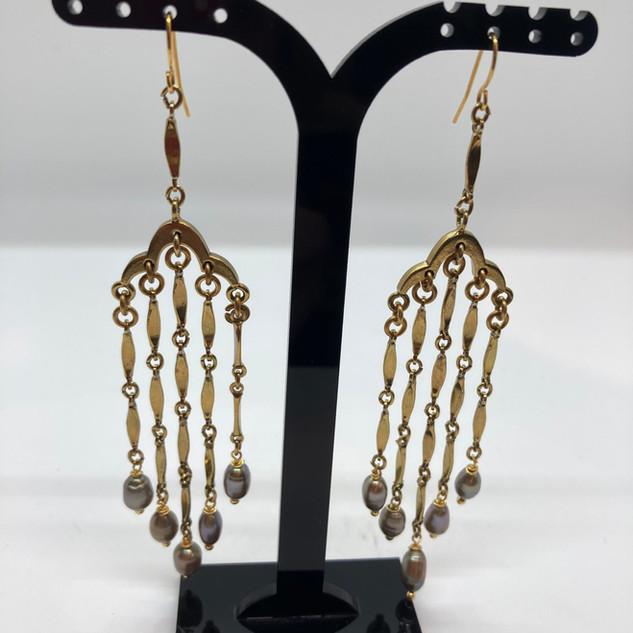 Boucles d'oreilles avec chaîne vintage e