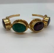 Bracelet or et serti de pierres semi-pré