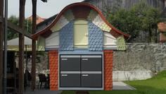 Restauration, tavillon rond, Villars-sous-Mont