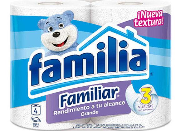 Papel Higienico Familiar Familia 4 Rollos
