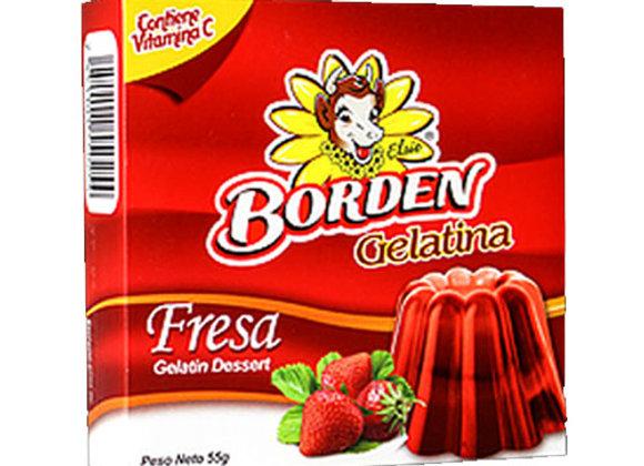 Gelatina Fresa Borden 55gr