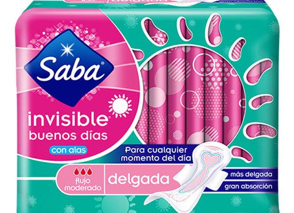 Toallas Sanitarias Invisible Con Alas Saba 14 toallas