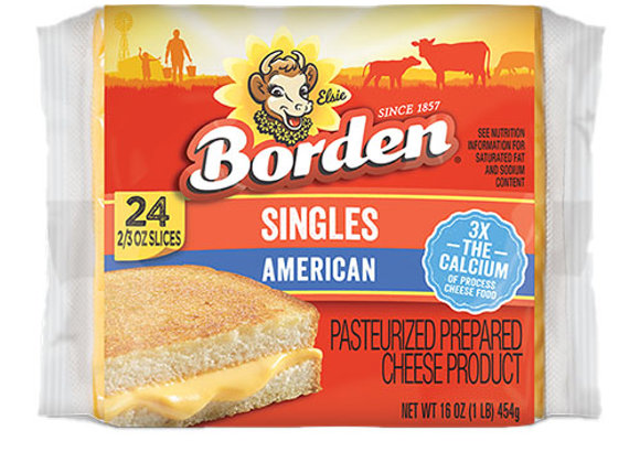 Queso Americano Regular 24 Rebanadas Borden