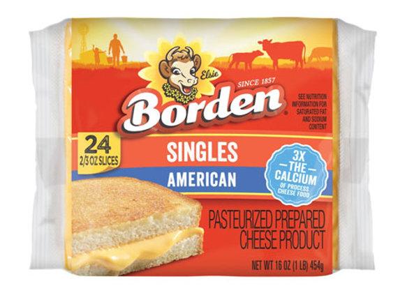 Queso Americano Cheddar 24 Rebanada Borden